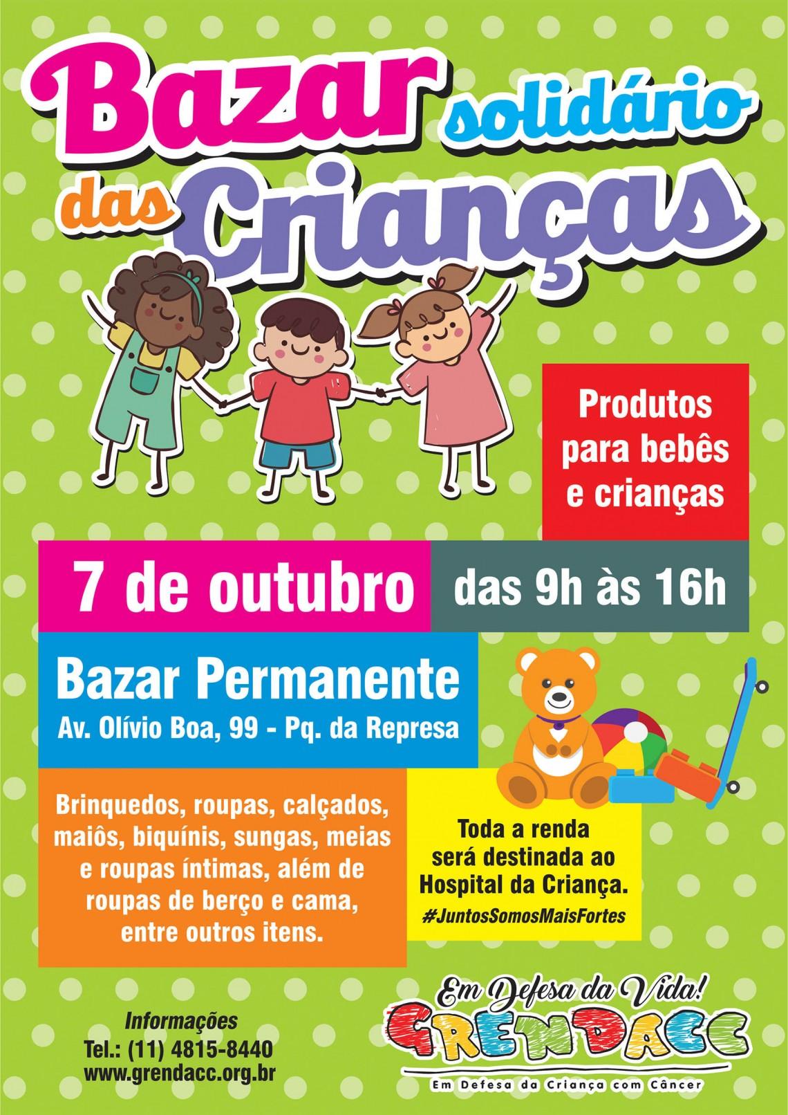 Cartaz Bazar Dia das Crianças