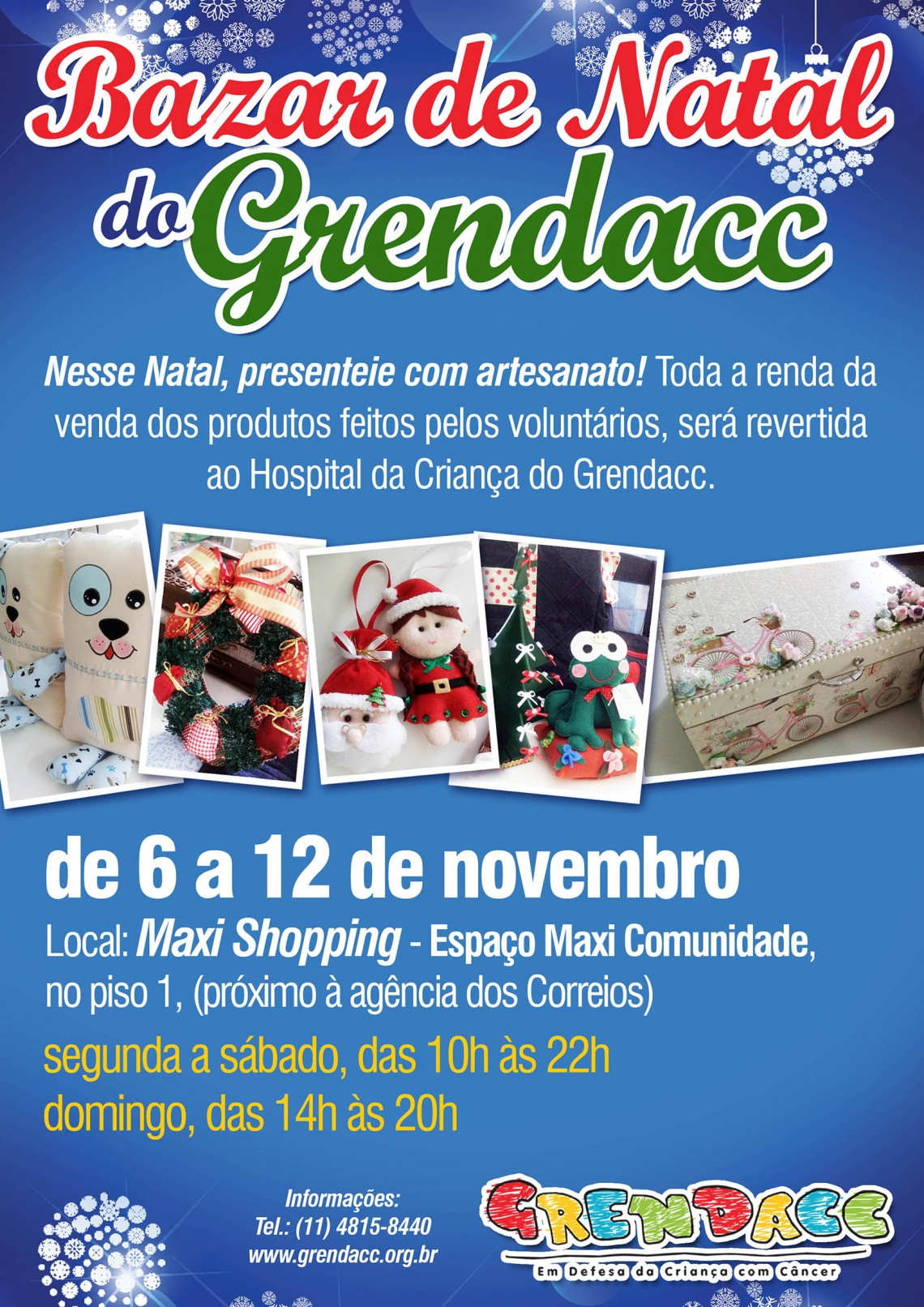 Cartaz Bazar do Grendacc